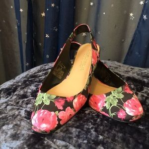 Pink and Black Flats